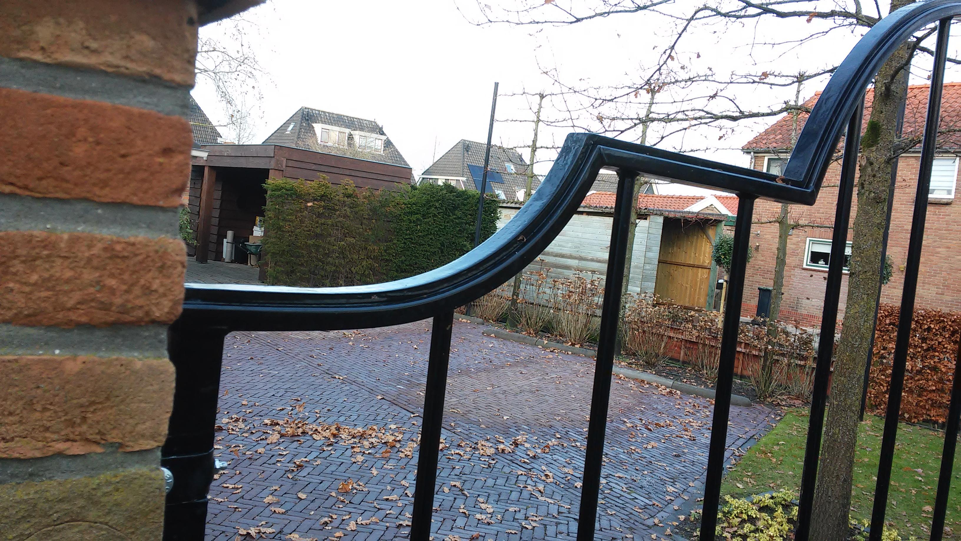 Detail van de poort.